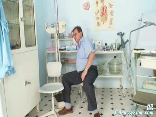 Obese Old Radka Has Real Speculum Exam By Kinky Gyno Docto