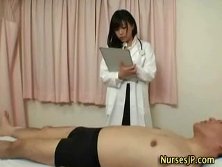 Hot sexy asian doc feels around
