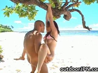 Amateurs shagging outdoors