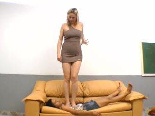braziliaans, voet fetish, femdom