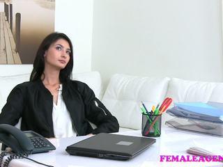 Femaleagent Agent Fucks Hot Masturbating Model with.