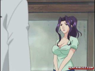 Mamá japonesa hentai gets squeezed su bigboobs