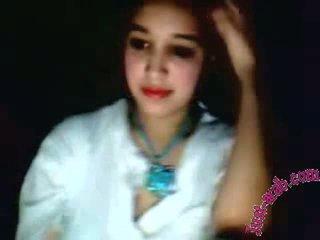 Arab נערה shows ב a מצלמת אינטרנט