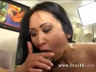 brunette, blowjob, mature