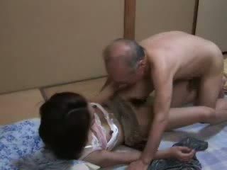 japonês, filha, avô