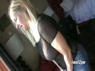 Tabitha wetting her panties