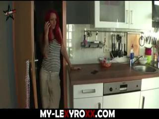girl, redhead, cumshot