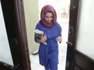 Horny Brunette Arab Teen Ada Gets Filled
