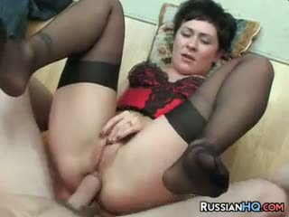 Russian MILF Anal Fucked