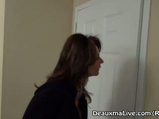 Eldre milf deauxma samtale lesbisk eskorte til komme faen henne!