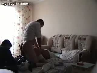 Only one is nailing the coed, that fell Titless her butt up!