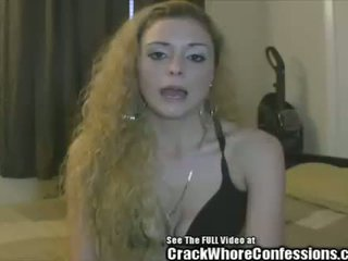 Blonde Hottie Crack Whore Double Dicked