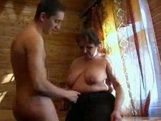 Busty Granny And Young Guy