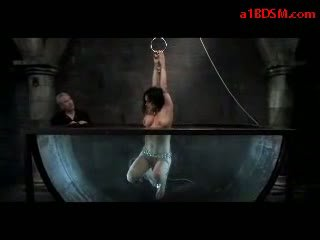 real bdsm scene, check water bondage clip