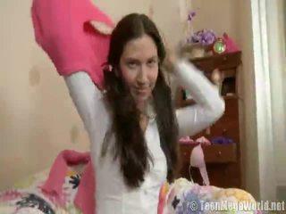 euro porn video-, hete brunette, groot girl showing her clit video-