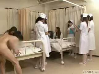 Deténgase la tiempo a fondle japonesa nurses!