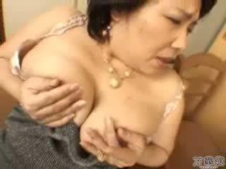 japonec, masturbuje, zralý, máma
