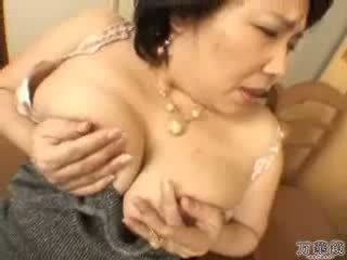 日本の, 自慰行為, 成熟した, ママ
