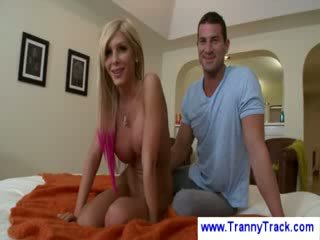 Blond Transsexual bj