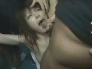 일본의, 소녀, groped, brutally
