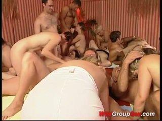 Last weekend german gangbang orgy