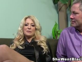 Big Tit MILF makes her cuckold husband watch