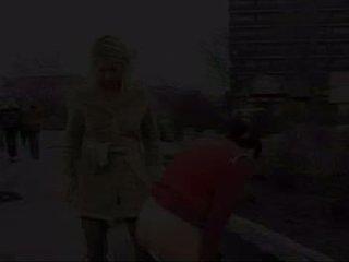 Lesbian drink piss in public Video