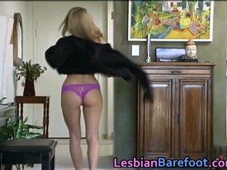 Sensuous Lesbians Fucking Around Dildo