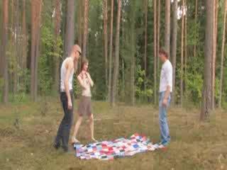 Amatérske czechian 3ka v the les