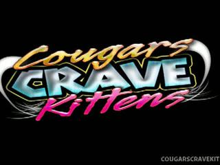 Cougars Crave Kittens: Cougar maggie green exploits shy little blond ashley!