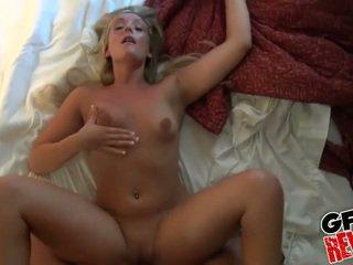 A blonde girlfriend with bombshell ass