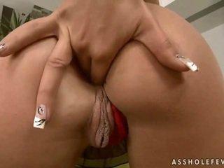 Sexy brunette enjoys anal fucking