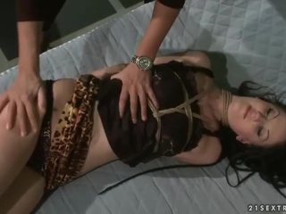Mistress Mandy Bright playing with sex slave