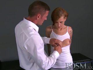 BDSM: Sadistic master scares his slave and bangs her
