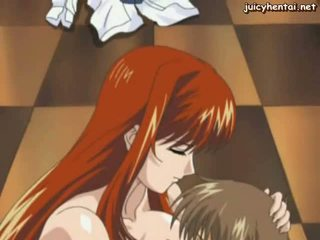 Heiß anime nanny mit riesig brüste
