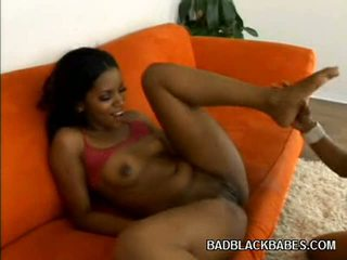 Sex Toy Rammed Ebon Pussies
