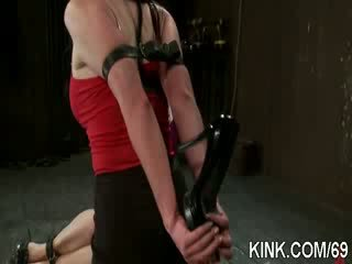 Hot pretty babe ass fucked and dominated