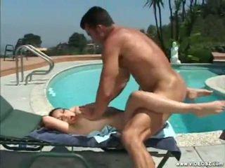 brunette, hardcore sex, outdoor sex