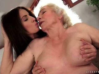 Grannies and Teens Lesbian Compilation