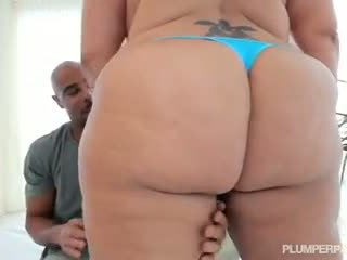 Lovely Latina BBW Sofia Rose Rides Big Black Cock