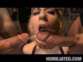 Blonde Slavery Peak Disgrace!
