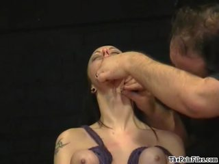 Piercing fetish and extreme bdsm of enslaved Emily