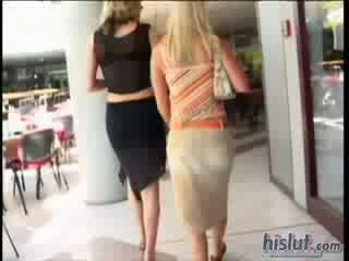 Jessica May slides down a big ebony pole