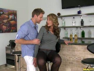 brunette porno, schattig gepost, heet neuken klem