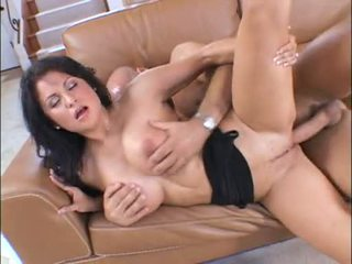 Titted Hot Mom Sophia Lomeli Enjoys A Thick Cock Screwing On Her Twat Sideways