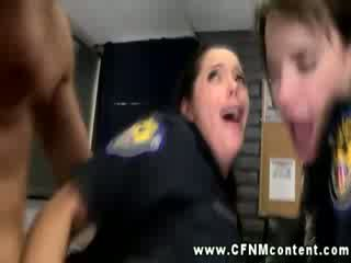 Sexy police babes getting anally fucked and love it