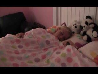 Little cute girl scared of The Boogeyman