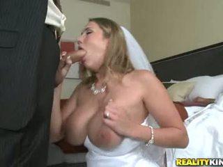 Giant Tit Bride Alanah Rae Strokes And Sucks Hubby's Moist Jock