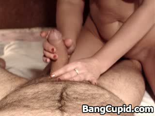 Lucky guy gets slow and teasing hand job