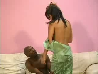 Tight oriental asian pleasing a black erect cock